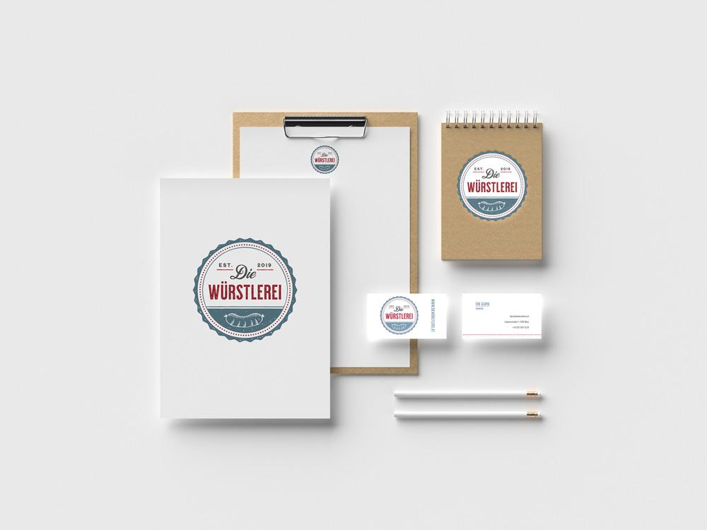sternloscreative | Logo Design | Geschäftsdrucksorten | die Würstlerei