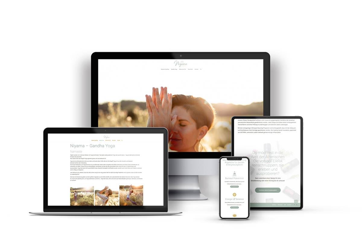Webdesign & Logo plus Corporate Design - Niyama