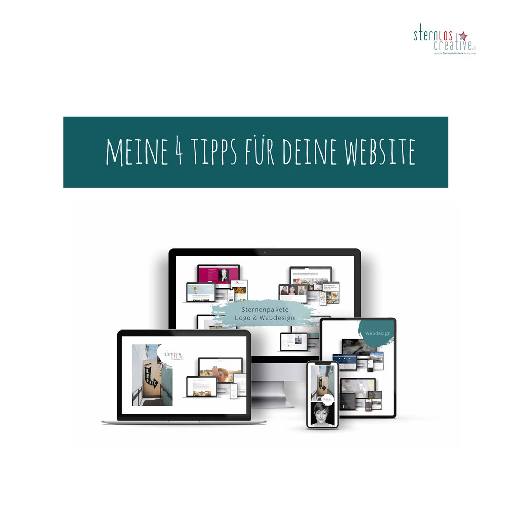 """Neuer Blogartikel von sternloscreative """"meine-4-tipps-für-deine-website-sternloscreative"""""""