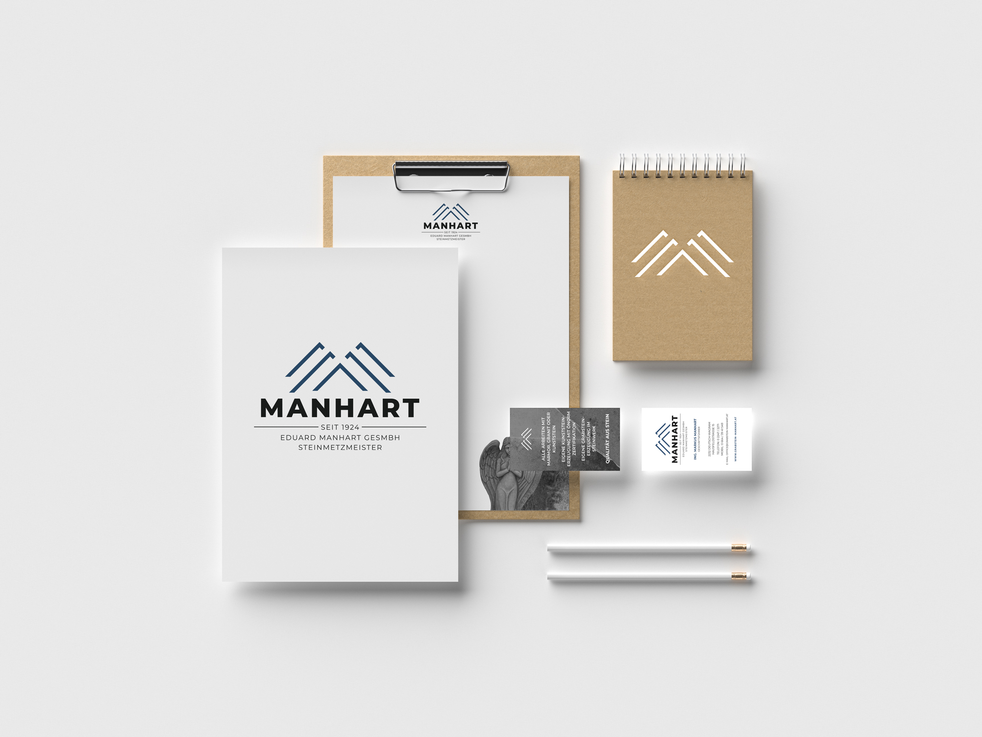 sternloscreative | Logo Design | Geschäftsdrucksorten | Grabstein Manhart