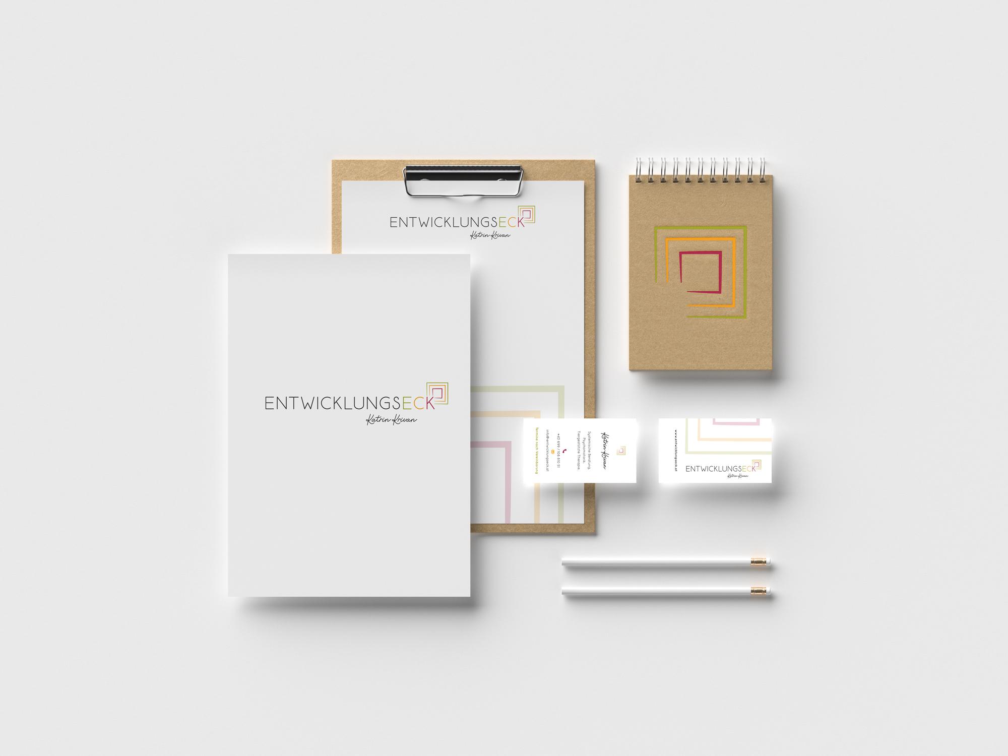 sternloscreative | Logo Design | Geschäftsdrucksorten | Entwicklungseck