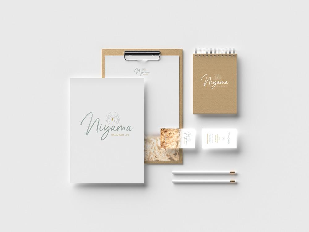 sternloscreative | Logo Design | Geschäftsdrucksorten | niyama