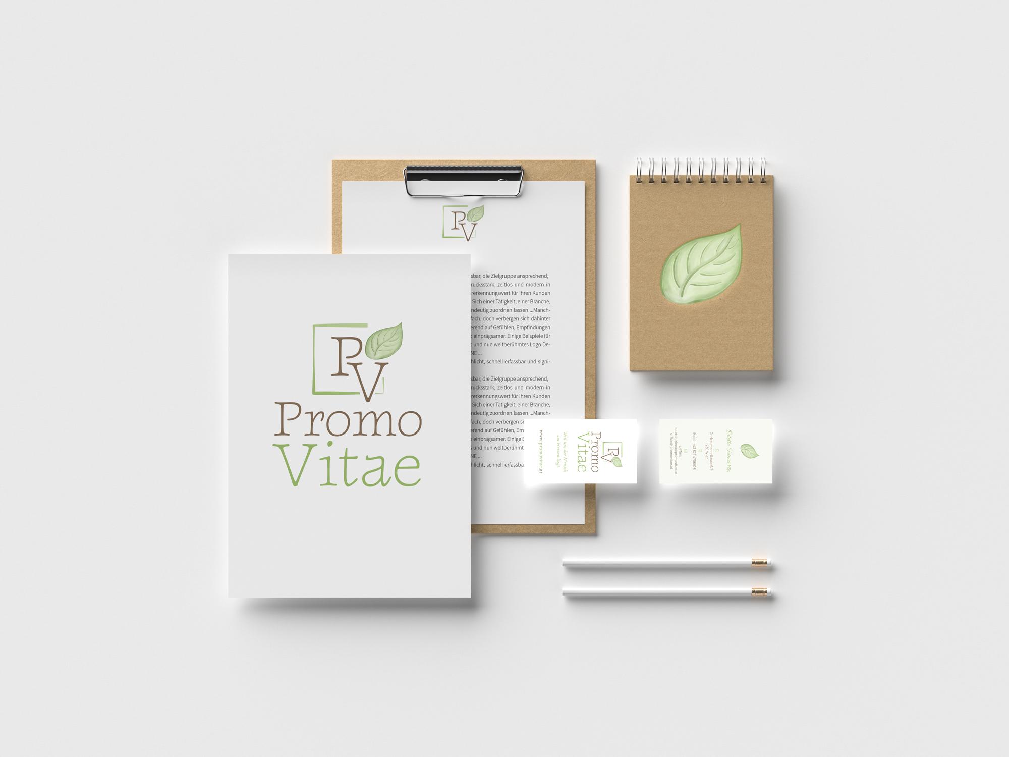 sternloscreative | Logo Design | Geschäftsdrucksorten | Promovitae